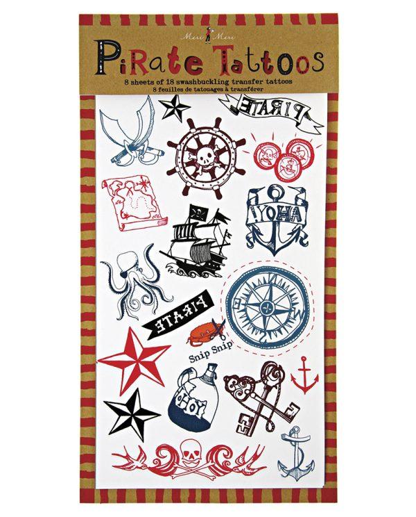 mongoose store meri meri piraten tattoo set