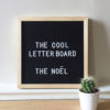 mongoose the cool company black letterboard