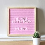 mongoose the cool company roze letterboard