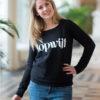 mongoose topwijf sweater zwart