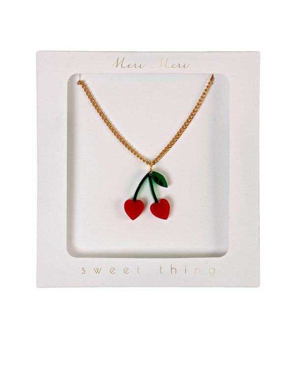 meri meri cherry charm necklace ketting mongoose store