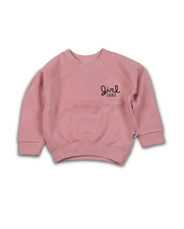 Girl gang sweater roze cos i said so - mongoose store