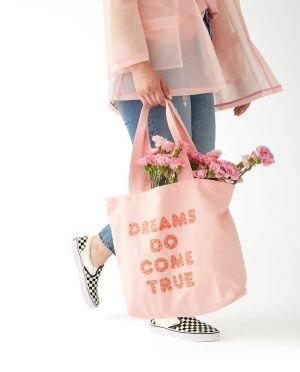 mongoose bando canvas tote dreams girl