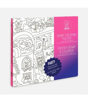 omy coloring poster party box front
